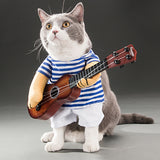 Costume Pour Chat <br> Le Guitariste