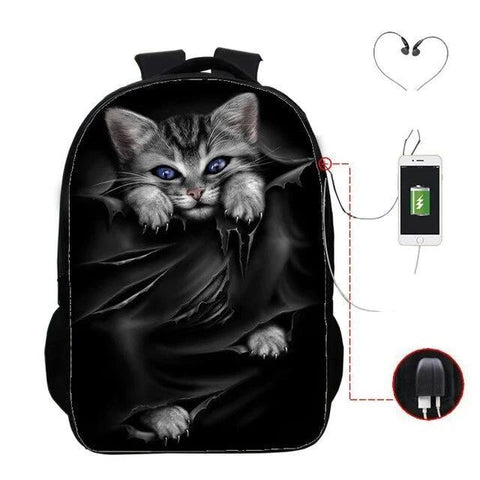 Cartable Chat <br> Onyx