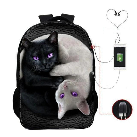 Cartable Chat <br> Yin Yang