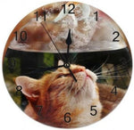 Horloge Chat Fontaine