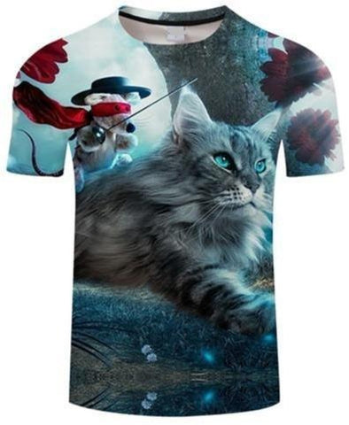 T-Shirt Chat Mousquetaire