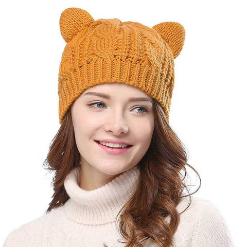 Tricot Bonnet Oreille de Chat