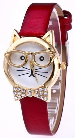Montre Chat <br> Lunette
