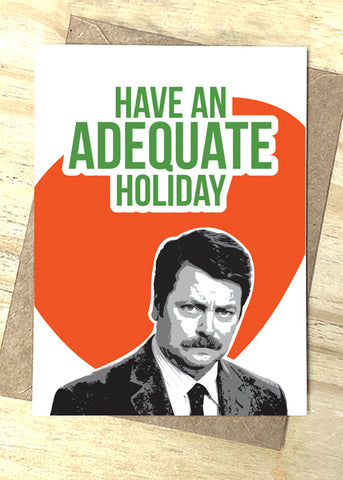 Adequate Holiday Card