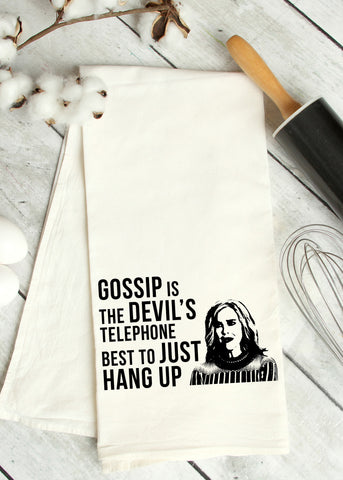 Devil's Telephone Tea Towel
