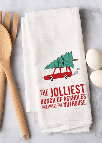 Jolly Assholes Tea Towel