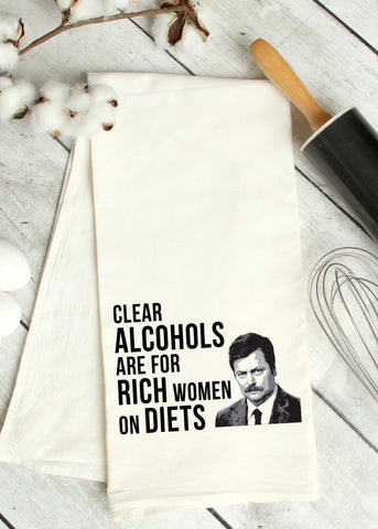 Rich Women Tea Towel