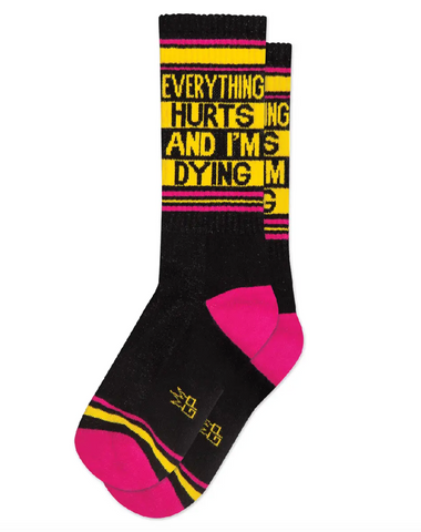 Everything Hurts Gym Socks