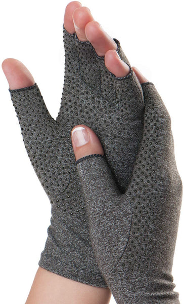 Dr. Frederick's Original Grippy Compression Gloves -- 2 Pieces - Pain Relief for Rheumatoid and Osteoarthritis