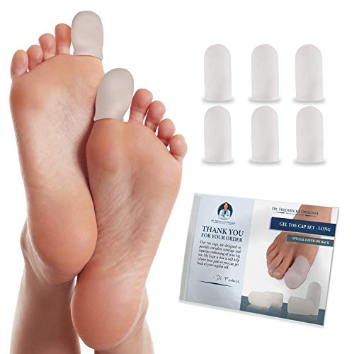 Dr. Frederick's Original Gel Toe Caps -- 4 Pieces - for Corns, Calluses, Blisters, and Ingrown Toenails