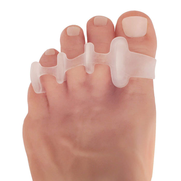 Dr. Frederick's Original Deluxe Toe Spreaders -- 2 Pieces - for Hammertoes, Claw Toes, Corns, and Foot Cramps