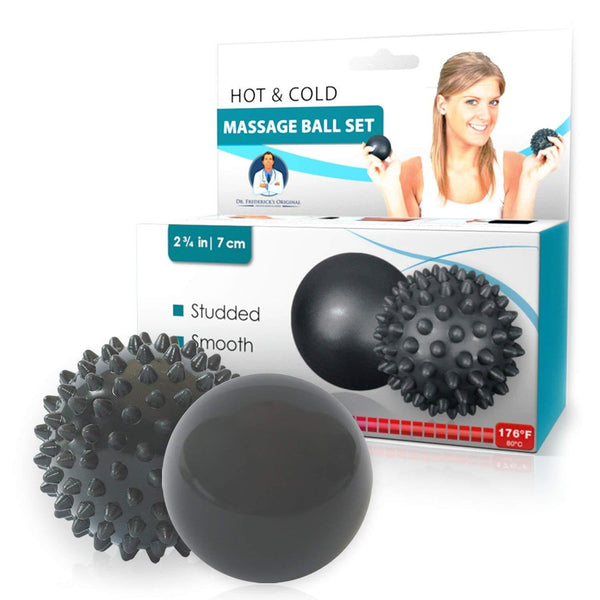 Dr. Frederick's Original Hot & Cold Massage Ball Set - Temperature Sensitive Massage Balls - for Deep Massage, Plantar Fasciitis, and Trigger Points