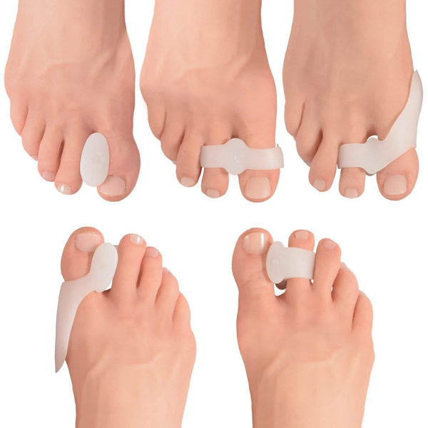 Dr. Frederick's Original Complete Bunion Pad & Spacer Kit -- 14 Pieces - for Bunions, Toe Pain, and Overlapping Toes