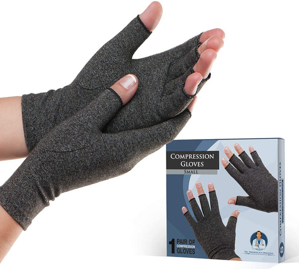 Dr. Frederick's Original Arthritis Gloves for Women & Men - Compression for Arthritis Pain Relief - Rheumatoid & Osteoarthritis