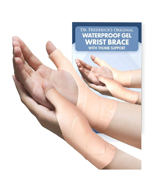 Dr. Frederick's Original Waterproof Wrist & Thumb Brace - 4 Pieces - Spica Splint for Thumb Arthritis - Skier's Thumb - De Quervain's
