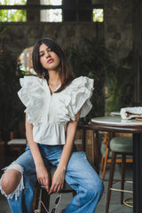 White Feather	Sleeves Top - Spotstyl