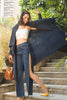 Navy Blue Pleated Cape