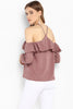 Dusty Rose Off Shoulder Top