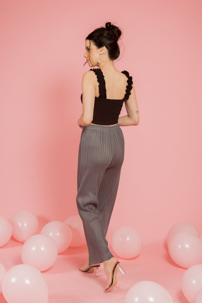 Grey pleated pants