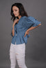 Denim Top With Pleat Detailing