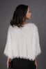 White Fringe Fur Sweater