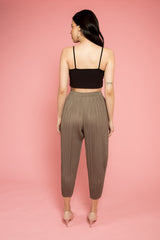 Olive Pleated Dhoti Pants - Spotstyl