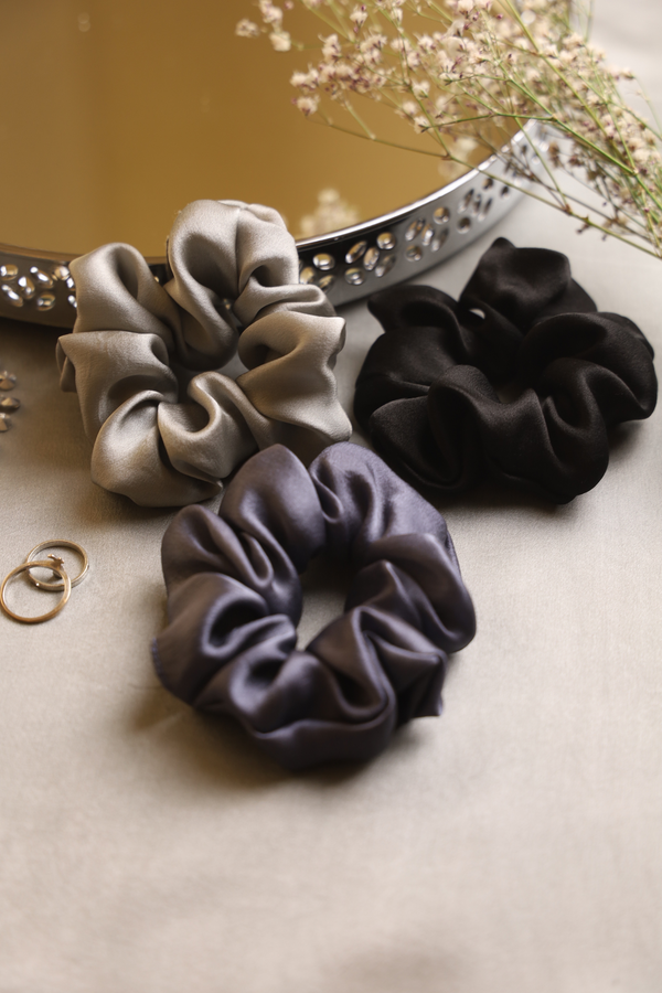 MOON LIGHT SILK SCRUNCHIE COLLECTION - Spotstyl