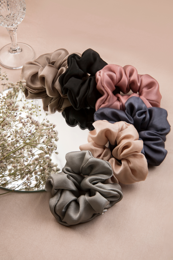 THE JEWEL COLLECTION SILK SCRUNCHIES - Spotstyl