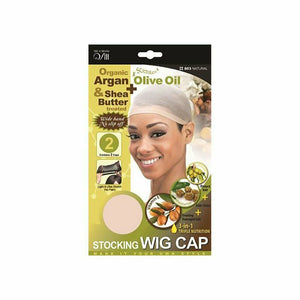 M&M Headgear Stocking Wig Cap Natural