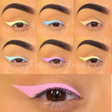 Mini Neon pastel water activated liners (7pcs)