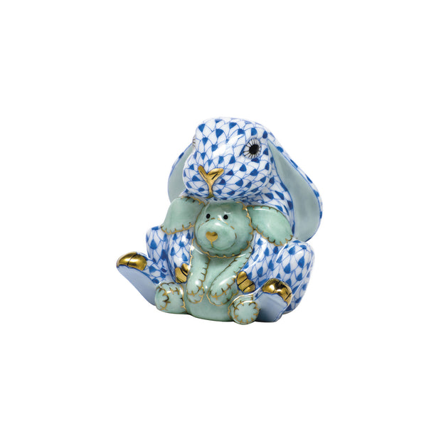 Hand-Painted Loving Bunny Porcelain Keepsake Figurine