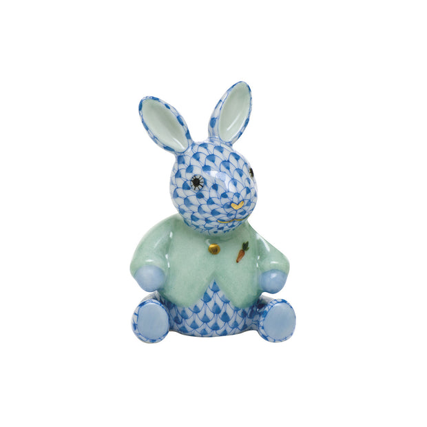 Hand-Painted Fashionista Bunny Porcelain Keepsake Figurine