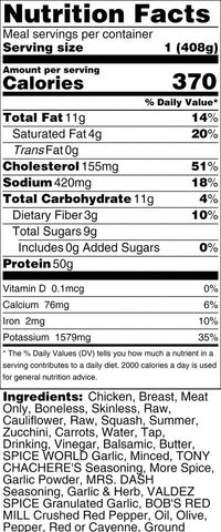 View Nutritional Label