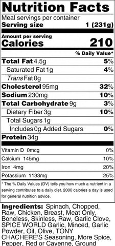 View Nutrition Label