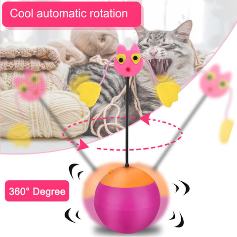 3-In-1 Multifunctional Automatic Rotating Cat Toy Ball Tumbler