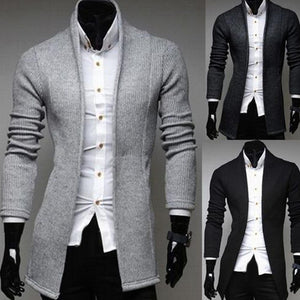Mens Vintage Blazer Coats Knitted Mandarin Collar Business Dress Blazers Casual Jackets Male S-lim Fits Suit Jacket платье пиджа