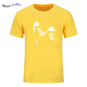 2019 NEW 100% cotton casual short sleeve skate shoes men T shirt cool summer cool men t shirt O neck Top Tee plus size
