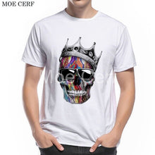 Load image into Gallery viewer, MOE CERF Summer New Fashion T-shirt Men Funny Shoes Skull Designer Cool Boy Tees Summer Casual Short Sleeve Brand Tops L9-E-35