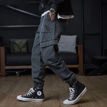 Load image into Gallery viewer, Plus size Jeans Men Hip hop StreetWear Joggers Ankle Length Denim Cargo Pants Loose Pocket Harem Trousers Sweatpants