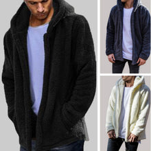 Load image into Gallery viewer, Drop Shipping Men Winter Warm Teddy Bear Pocket Fluffy Coat Fleece Fur Hooded Jackets Hip Hop Stylish Cool Tops Plus Size M-2XL