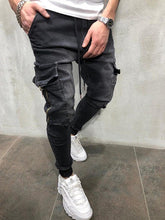 Load image into Gallery viewer, Men Stretchy Multi-pocket Skinny Jeans men pocket zipper pencil Pants 2019 fashion jeans Casual Trousers Hip hop sweatpants