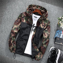 Load image into Gallery viewer, 2019 Men's wear casual  camouflage jacket. of Slim handsome spring autumn casual solid color large size baseball clothes