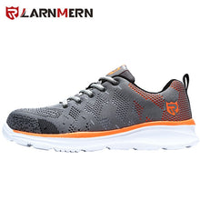 Load image into Gallery viewer, LARNMERN Lightweight Breathable Men Safety Shoes Steel Toe Work Shoes For Men Anti-smashing Construction Sneaker With Reflective
