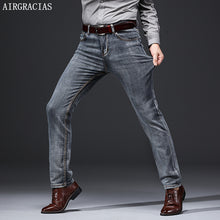 Load image into Gallery viewer, AIRGRACIAS Brand Jeans Retro Nostalgia Straight Denim Jeans Men Plus Size 28-40 Casual Men Long trousers