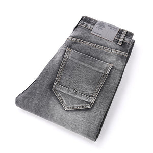 AIRGRACIAS Brand Jeans Retro Nostalgia Straight Denim Jeans Men Plus Size 28-40 Casual Men Long trousers