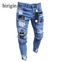 Load image into Gallery viewer, Men Clothes 2020 Hip Hop Sweatpants Skinny Motorcycle Denim Pants Zipper Designer Black Jeans Mens Casual Men Jeans Trousers