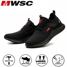 Load image into Gallery viewer, MWSC Safety Work Shoes For Men Steel Toe Cap Indestructible Work Boots Anti-smashing Men Construction Boots Working Sneakers
