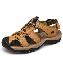 Load image into Gallery viewer, Classic Men's Sandals Summer Soft Sandals Comfortable Men Shoes Genuine Leather Sandals Big Size Soft Outdoor Men Roman Sandals