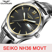 Load image into Gallery viewer, GUANQIN Sapphire Automatic Mechanical Watch men Japan NH36 Movement top brand luxury men watches waterproof  Relogio Masculino
