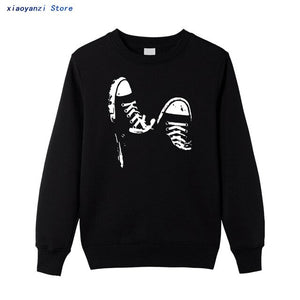 cotton casual Unisex skate shoes men women cool male sweatshirt printed hoodies pullovers for boys top8692